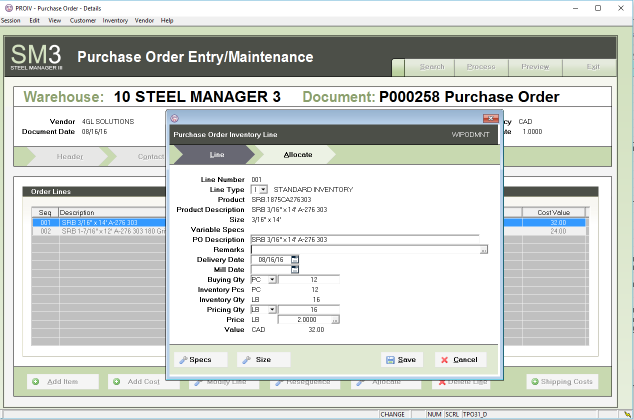 Steel Manager III | 4GL Solutions | Your Customized Metals